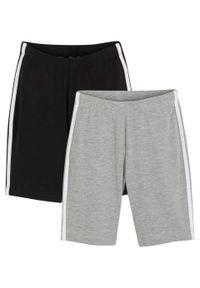 Czarne spodnie bonprix sportowe, melanż