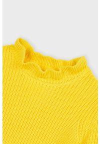 Żółty sweter Mayoral z golfem