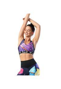FJ! - Stanik sportowy MUFFINS. Materiał: żakard, dzianina, elastan, guma, poliester. Sport: fitness, bieganie