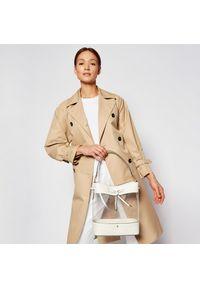 Beżowa torebka klasyczna Lauren Ralph Lauren skórzana, klasyczna