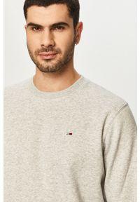 Szara bluza nierozpinana Tommy Jeans melanż, bez kaptura