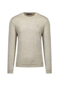 Polo Golf Ralph Lauren - Sweter wełniany POLO GOLF RALPH LAUREN. Typ kołnierza: golf, polo. Kolekcja: plus size. Materiał: wełna. Wzór: melanż. Sezon: lato, zima