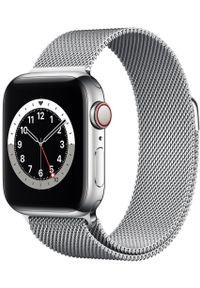 APPLE - Apple smartwatch Watch Series 6 Cellular, 40mm Silver Stainless Steel Case with Silver Milanese Loop. Rodzaj zegarka: smartwatch. Kolor: srebrny