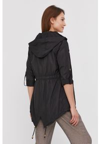 Czarna kurtka Answear Lab gładkie, z kapturem
