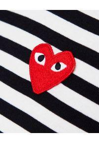 COMME DES GARCONS PLAY - Koszulka w paski z sercem. Kolor: czarny. Materiał: bawełna, jeans. Długość rękawa: długi rękaw. Długość: długie. Wzór: paski. Styl: klasyczny #3