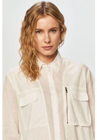 Biała koszula Silvian Heach na co dzień, z długim rękawem, elegancka, z klasycznym kołnierzykiem
