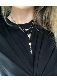 SIN BY MANNEI - Srebrny Choker Mykonos. Materiał: srebrne. Kolor: srebrny. Wzór: aplikacja. Kamień szlachetny: szafir, cyrkonia