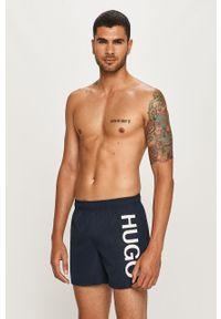 Niebieskie kąpielówki Hugo z nadrukiem