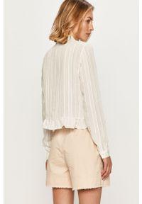 Biała koszula Vero Moda z długim rękawem, na co dzień, długa