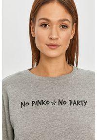 Szara bluza Pinko klasyczna, z nadrukiem