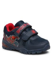 Spiderman Ultimate - Sneakersy SPIDERMAN ULTIMATE - CP40-SS2019SPRMV Black. Zapięcie: rzepy. Kolor: niebieski. Materiał: materiał. Szerokość cholewki: normalna. Wzór: motyw z bajki