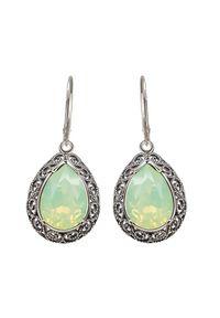 Polcarat Design - Kolczyki srebrne z kryształami Swarovski K 2087. Materiał: srebrne. Kolor: srebrny. Wzór: aplikacja. Kamień szlachetny: kryształ