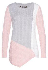 Różowy sweter bonprix melanż