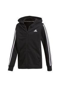 Bluza Adidas z kapturem, z aplikacjami, długa