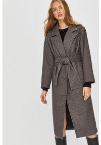 Szary płaszcz Answear Lab wakacyjny, bez kaptura, na co dzień