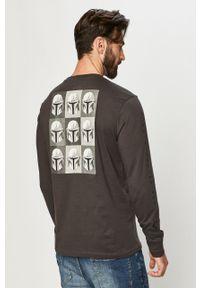 Szara koszulka z długim rękawem Element z motywem z bajki, na co dzień, casualowa