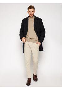 Czarny płaszcz przejściowy Pierre Cardin