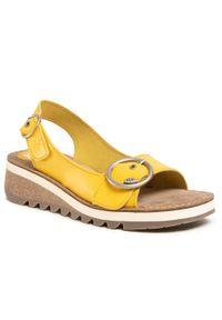 Żółte sandały Fly London na co dzień, casualowe