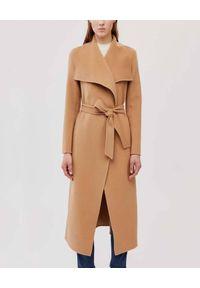 Mackage - MACKAGE - Wełniany płaszcz Mai. Kolor: beżowy. Materiał: wełna