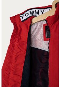 Czerwona kurtka TOMMY HILFIGER casualowa, bez kaptura, na co dzień