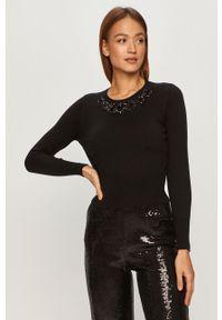 Czarny sweter Liu Jo z długim rękawem, długi, na co dzień