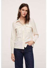 mango - Mango - Koszula bawełniana Paris. Okazja: na co dzień. Kolor: biały. Materiał: bawełna. Długość rękawa: długi rękaw. Długość: długie. Styl: casual