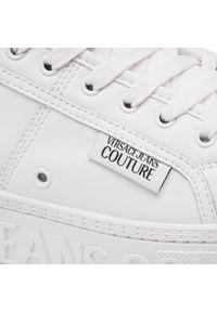 Białe półbuty Versace Jeans Couture z cholewką, na co dzień, eleganckie