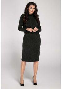 Czarna sukienka dzianinowa Nommo mini
