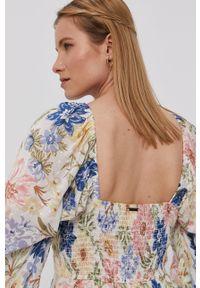 Wielokolorowa sukienka Billabong na co dzień, z dekoltem karo, maxi