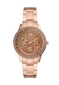 Fossil - Zegarek ES5109. Kolor: złoty. Materiał: materiał