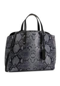 Szara torebka klasyczna QUAZI klasyczna, zamszowa