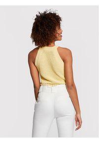 Morgan Sweter 211-MLALA Żółty Regular Fit. Kolor: żółty