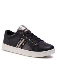 Geox - Sneakersy GEOX - J Djrock G. H J024MH 00085 C9999 D Black. Okazja: na spacer, na co dzień. Kolor: czarny. Materiał: skóra. Styl: casual
