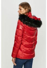 Czerwona kurtka Geox z kapturem