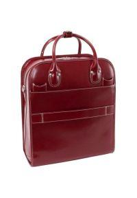 Czerwona torba na laptopa MCKLEIN klasyczna #7