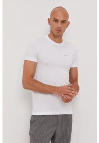 Calvin Klein Jeans - T-shirt (2-pack). Okazja: na co dzień. Kolor: biały. Wzór: nadruk. Styl: casual