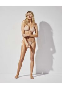 PRAIA BEACHWEAR - Kremowe bikini Like a Virgin. Kolor: beżowy. Materiał: materiał. Długość: długie