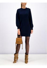 Niebieski sweter klasyczny Silvian Heach
