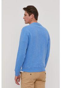 Pepe Jeans - Bluza Hugh. Okazja: na co dzień. Kolor: niebieski. Materiał: guma. Wzór: aplikacja. Styl: casual