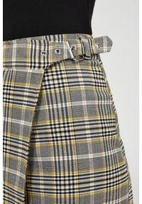 Żółta spódnica MOODO w kratkę