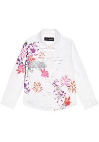 Desigual Koszula Cam Helena 20WGCW02 Biały Regular Fit. Kolor: biały
