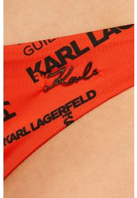 Czerwony strój kąpielowy dwuczęściowy Karl Lagerfeld