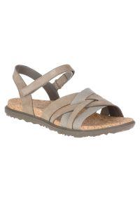 Sandały damskie Merrell Around Town 599232. Zapięcie: rzepy. Materiał: skóra, materiał. Wzór: paski