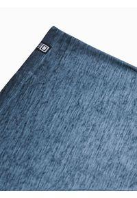 Ombre Clothing - T-shirt męski bawełniany S1388 - granatowy - XXL. Kolor: niebieski. Materiał: bawełna
