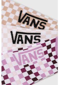 Różowe skarpetki Vans