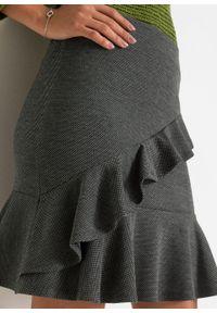 Spódnica mini w żakardowy wzór bonprix czarny. Kolor: czarny. Materiał: żakard