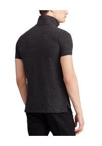 Ralph Lauren - RALPH LAUREN - Koszulka polo Slim Fit. Typ kołnierza: polo. Kolor: czarny. Materiał: bawełna, prążkowany. Wzór: haft #5