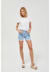 MOODO - Szorty jeansowe. Materiał: jeans. Wzór: gładki