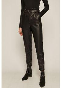 Czarne spodnie materiałowe medicine