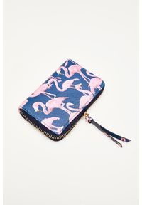 MOODO - Portfel we flamingi. Materiał: skóra ekologiczna. Wzór: motyw zwierzęcy